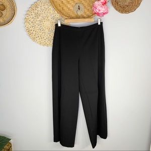 Lilith   High Waisted Wide Leg Flat Front Pants